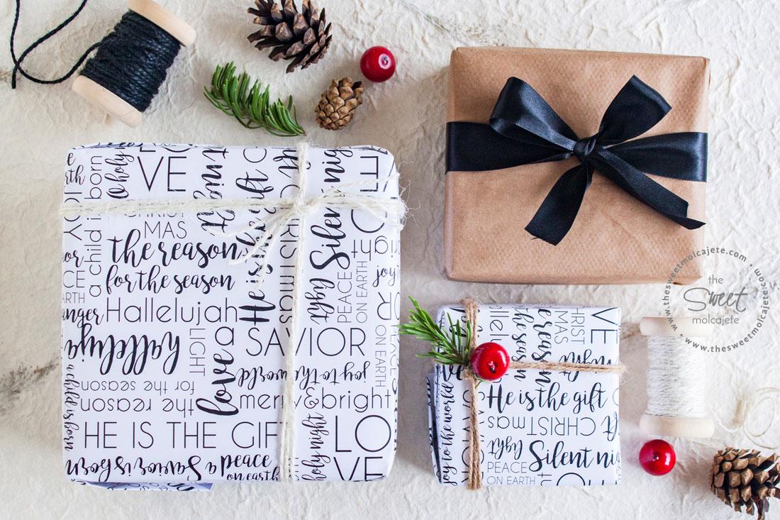 Imprimible gratis envoltura de regalos para navidad for Pc in regalo gratis